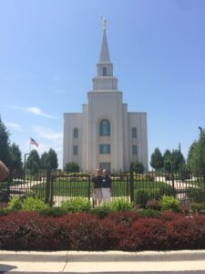 Kansas City Temple with Mark and Liam