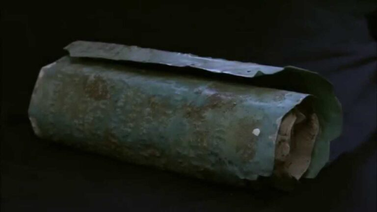 ancient American copper scroll