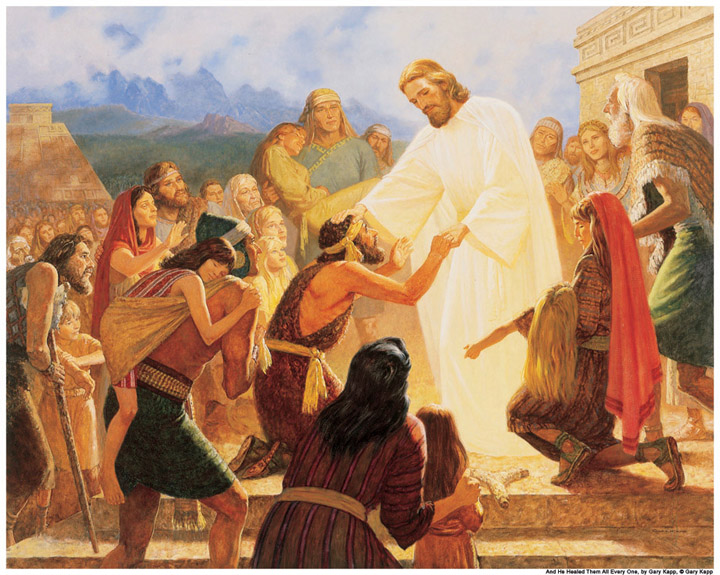 Christ visits the people of ancient America