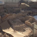 Archealogical excavations south of the old city, proposed City of David