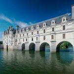 Chenonceaux bridge over the river Cher , France