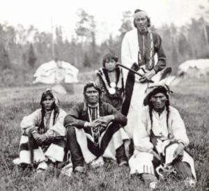 Native American Chippewa men