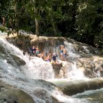 couples experiencing Dunn river Waterfalls