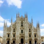 facade of the MIlan Cathedral Italy