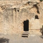 The doorway to the proposed burial place of Jesus in a Garden