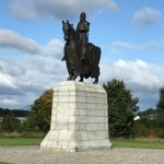 medieval knight on a horse commemorating the Battle of Bannockburn in Stirling Scotland