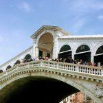 tourist on the Rialto Bridge