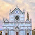 facade of Santa Croce Florence Italy