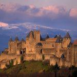 Carcassonne, a hilltop town in southern France's Languedoc area
