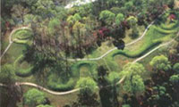 complete Serpent Mound aerial view