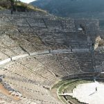 excavated ancient Roman theater at Ephesus