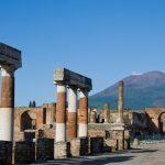 street in excavated Pompeii