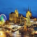 Erfurt Christmas Market Germany at night