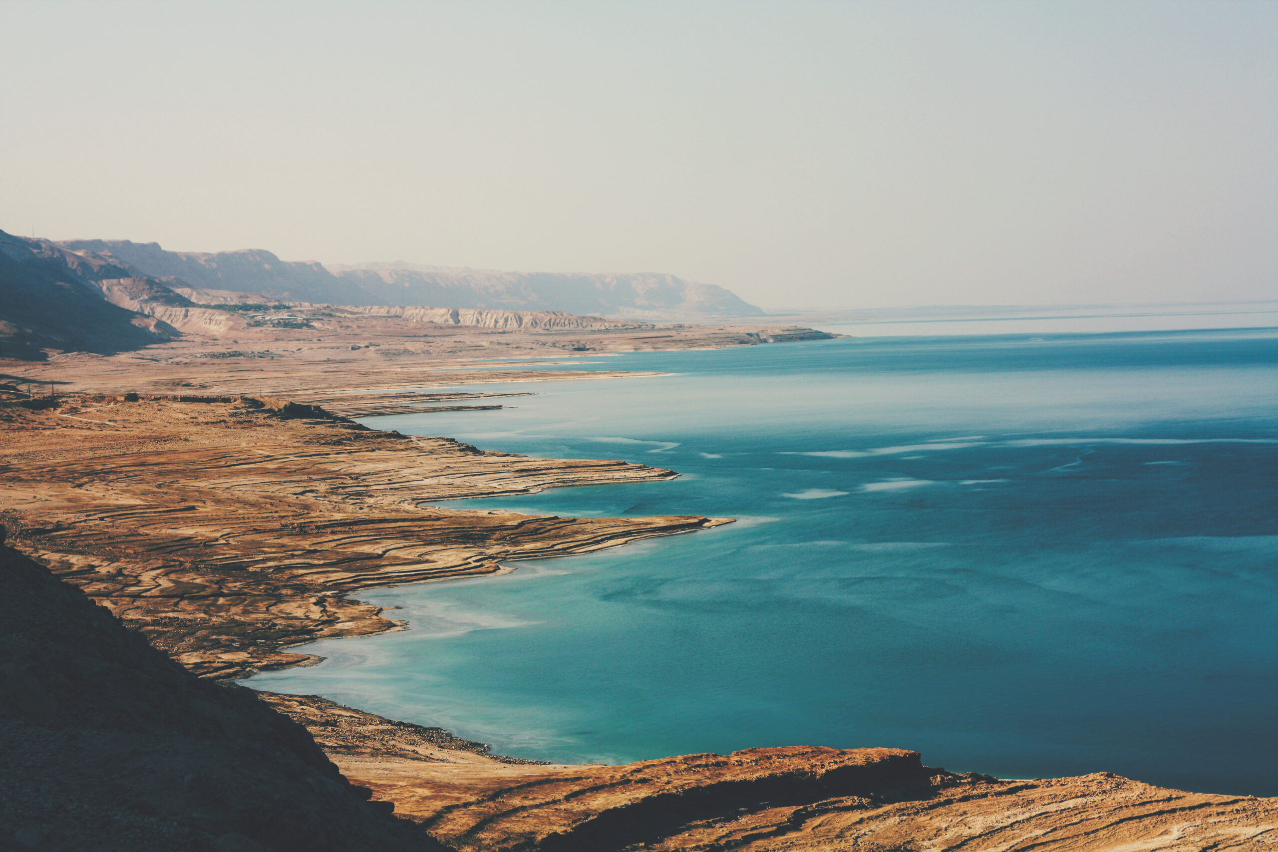 Dead Sea and desert cliffs southern Israel