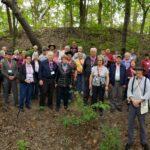 Tour group standing on Zelph Mound Illinois